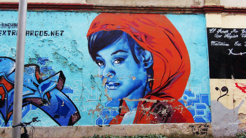 Street Art Vitoria-Gasteiz - blue is beautiful